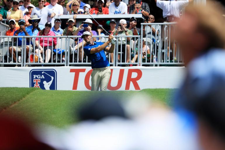 Le golfeur Dustin Johnson durant l'US PGA Tour Championship en 2019