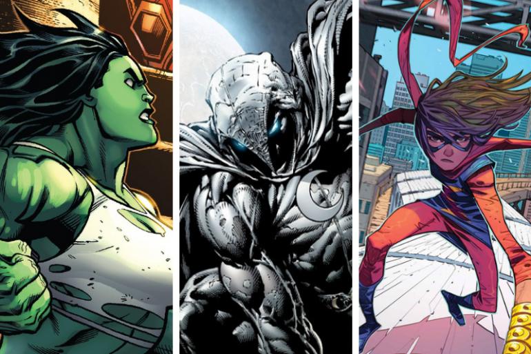 She-Hulk, Moon Knight et Ms Marvel seront les trois nouveaux visages du MCU