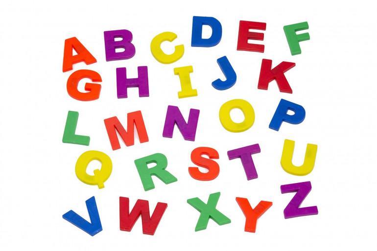 Des lettres de couleur