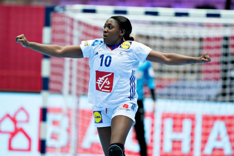 La demi-centre des Bleues, Grâce Zaadi, le 8 décembre 2020 lors du match France-Danemark.