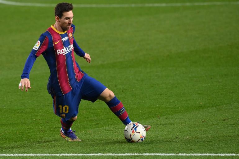 Lionel Messi, avec le maillot du FC Barcelone