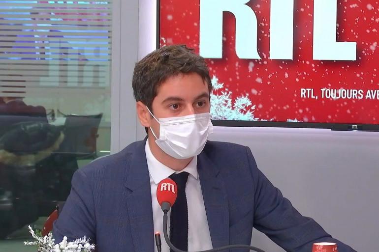 Gabriel Attal était l'invité de RTL le 21 décembre 2020