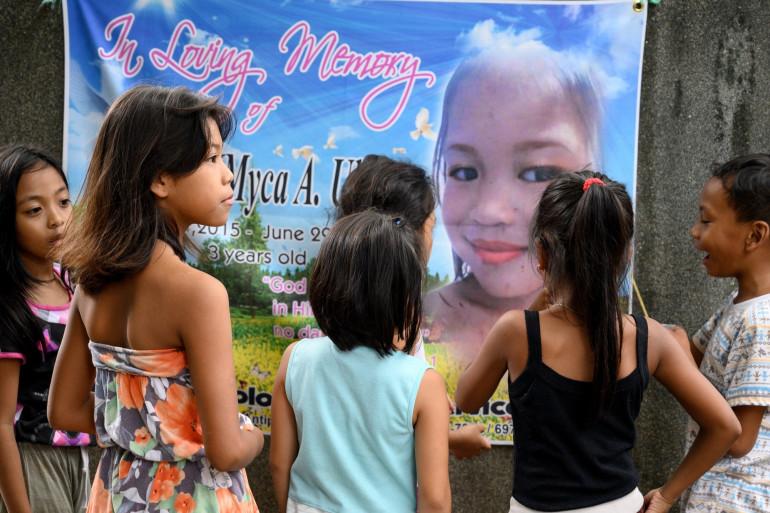 Des enfants à Manille, aux Philippines (illustration)