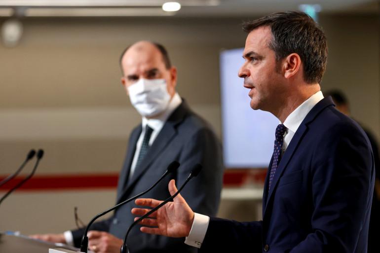 Olivier Véran et Jean Castex le 10 décembre.