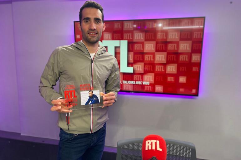 Martin Fourcade dans les studios de RTL en décembre 2020