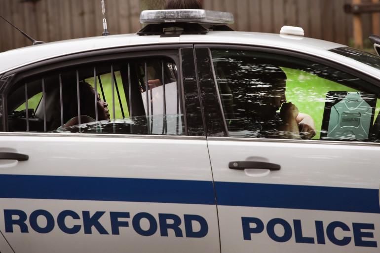 Une voiture de police à Rockford, dans l'Illinois (illustration)