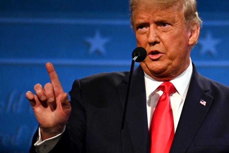 Donald Trump s'exprime lors du dernier débat présidentiel à l'Université Belmont de Nashville, Tennessee, le 22 octobre 2020.