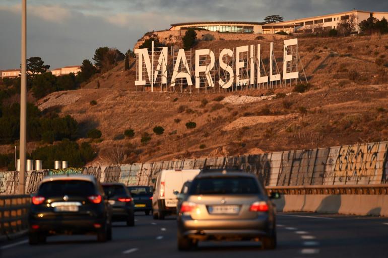 Autoroute A55 près de Marseille
