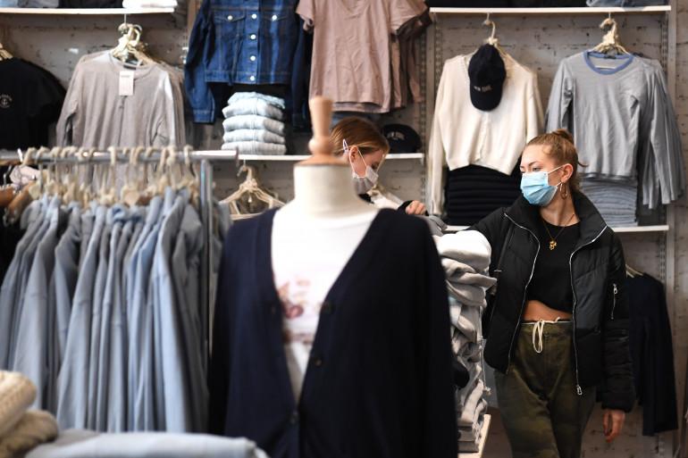 Une boutique de vêtements (illustration)