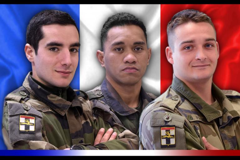Dorian Issakhanian, Tanerii Mauri et Quentin Pauchet, les trois soldats tués au Mali.