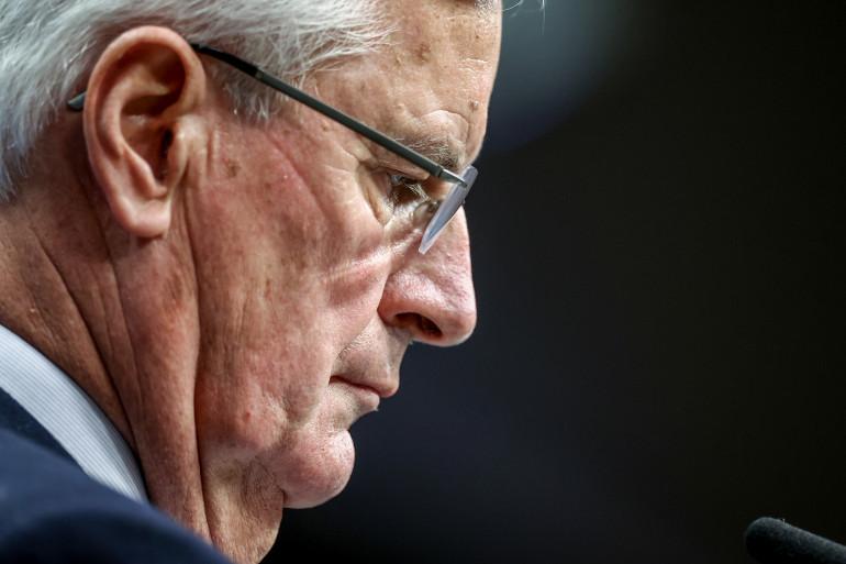Michel Barnier le 15 octobre 2020 à Bruxelles (Belgique)