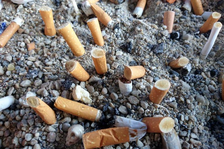 Des mégots de cigarette (Illustration)