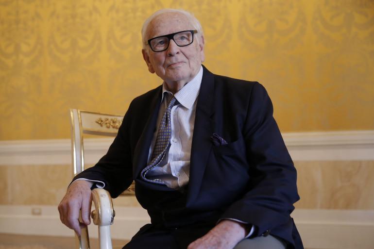 Pierre Cardin, à Venise, en 2016