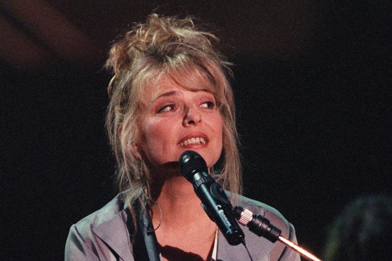 La chanteuse France Gall en concert en 1993 à Paris