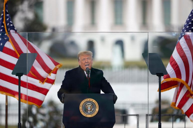 Donald Trump lors de son discours à Washington DC le 6 janvier 2021