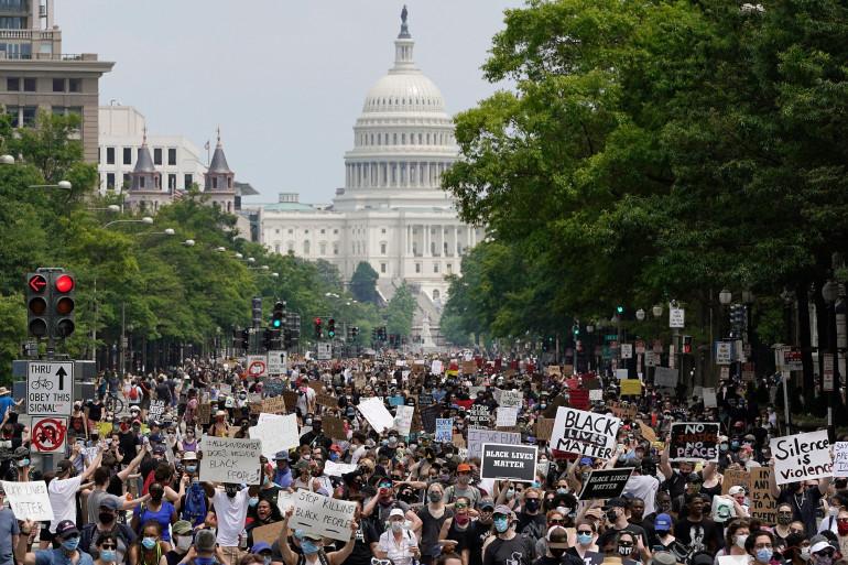 Une manifestation Black Lives Matter, le 6 juin 2020 à Washington