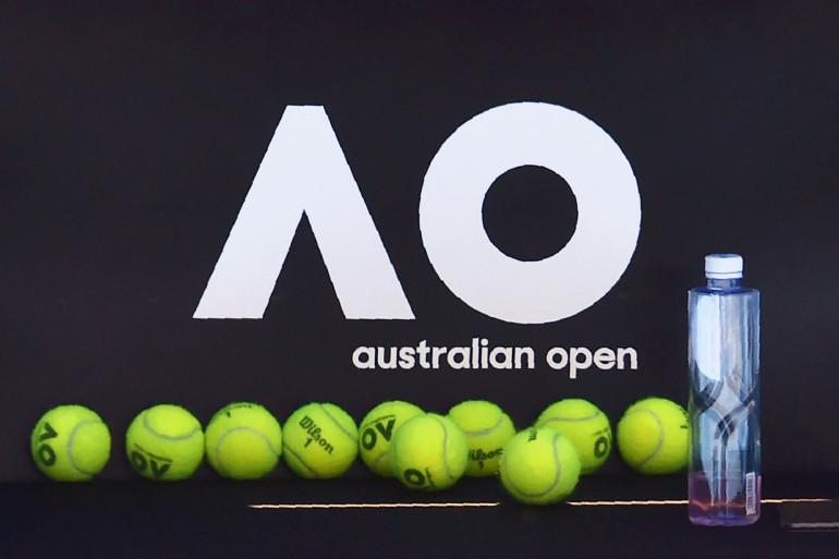 Le logo de l'Open d'Australie de tennis en 2018