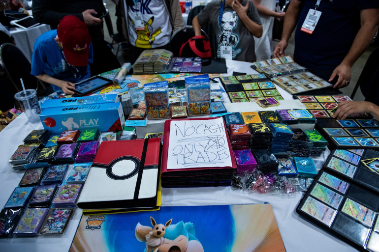 Des cartes Pokémon lors d'un tournoi international (illustration)
