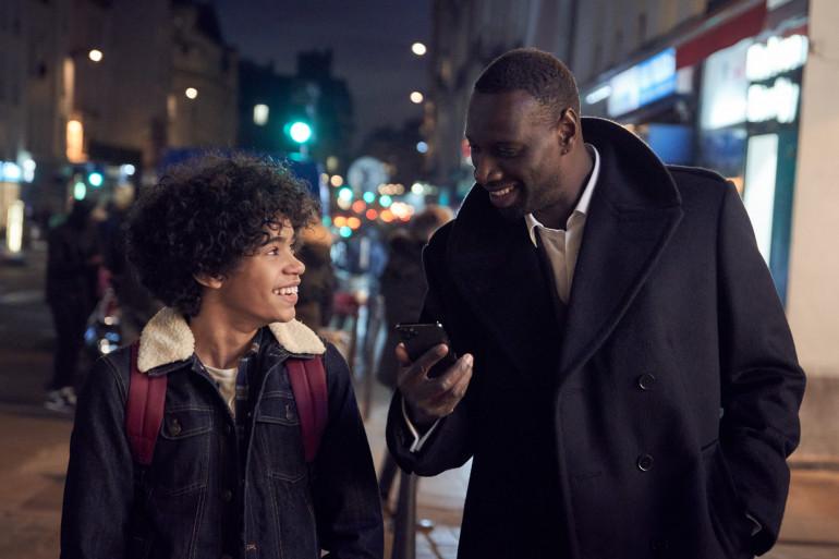 """Assane Diop (Omar Sy) et son fils, le héros de """"Lupin"""""""