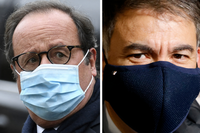 François Hollande et Olivier Faure