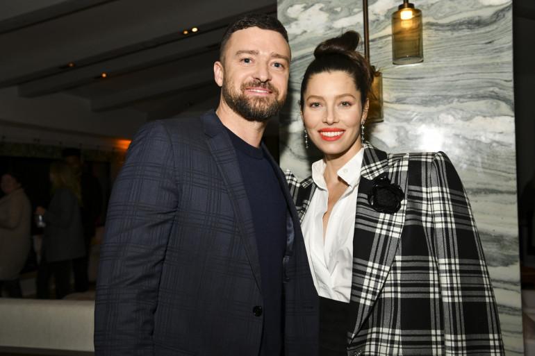 """Justin Timberlake et Jessica Biel à l'avant-première de """"The Sinner"""", à Hollywood, le 3 février 2020."""