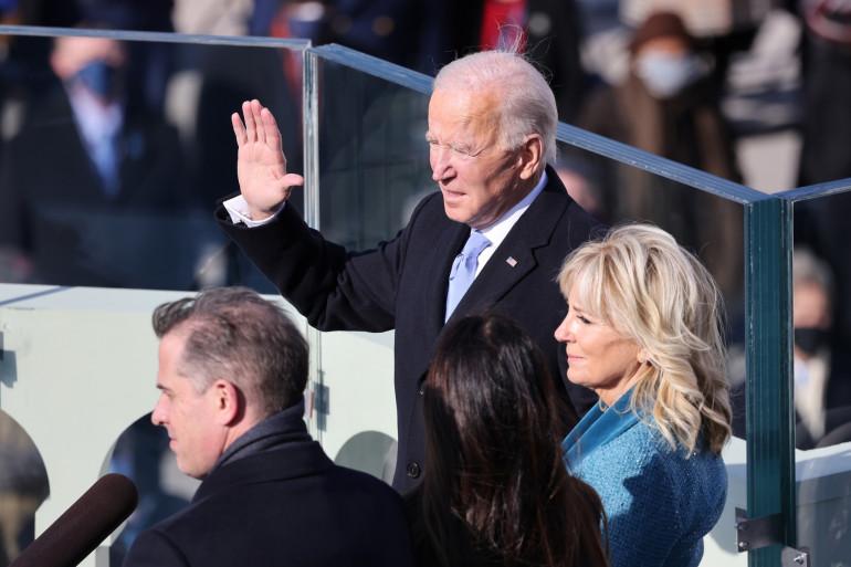Joe Biden prêtant serment, le 20 janvier 2021