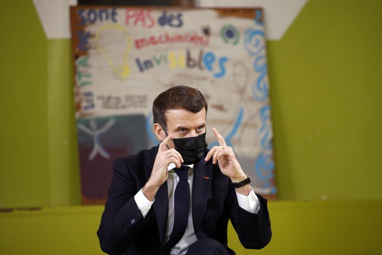Emmanuel Macron, le 21 janvier 2021