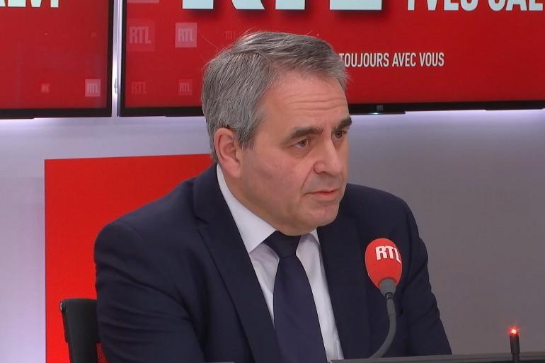 Xavier Bertrand, président de la région Hauts-de-France, invité sur RTL le 25 janvier 2021