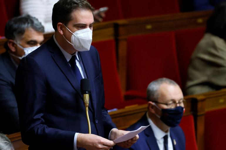 Le député Agir du Haut-Rhin, Olivier Becht, le 8 décembre 2020 à l'Assemblée.
