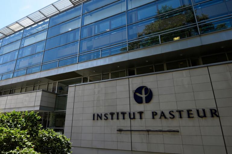 Une photo prise le 21 juillet 2017 montre la construction de l'Institut Pasteur.