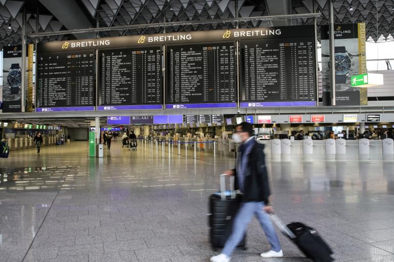 L'aéroport international de Francfort (Allemagne) pendant la crise du coronavirus (illustration)