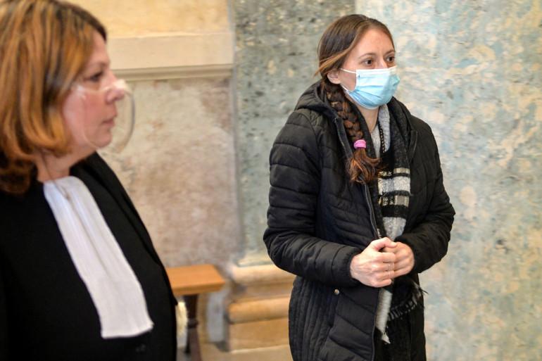 """Audrey Louvet le 18 janvier 2021, l'une des deux accusés dans l'affaire dite de la """"grotte sanglante"""""""