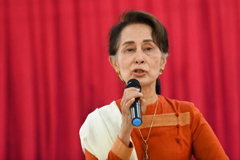 Aung San Suu Kyi le 14 mars 2019.