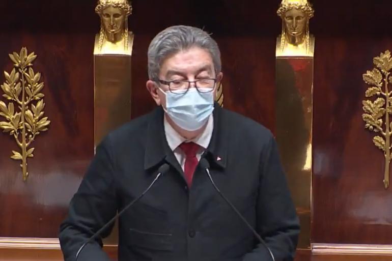 Jean-Luc Mélenchon à l'Assemblée nationale, le 1er février 2021