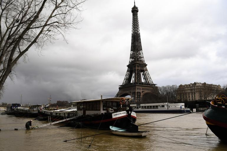 La Seine en crue à Paris, le 2 février 2021 (illustration)