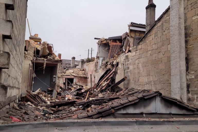 Les décombres de l'immeuble qui s'est écroulé samedi 6 février après une explosion à Bordeaux.