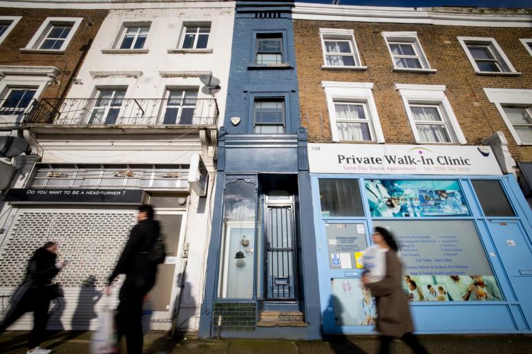 La maison la plus étroite de Londres est située dans le quartier de Shepherd's Bush.