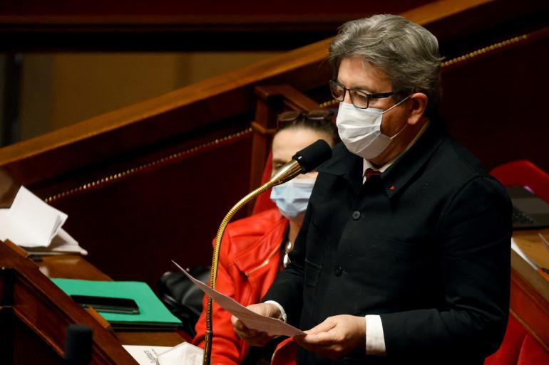 Jean-Luc Mélenchon à l'Assemblée nationale le 9 février 2021