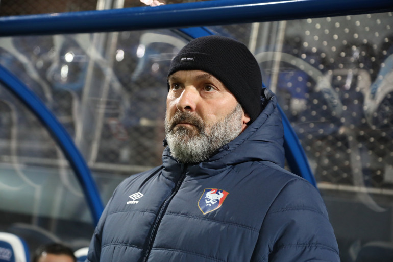 L'entraîneur de Caen Pascal Dupraz le 18 décembre 2020