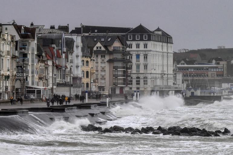 La côte de Wimereux (Pas-de-Calais) en 2020.