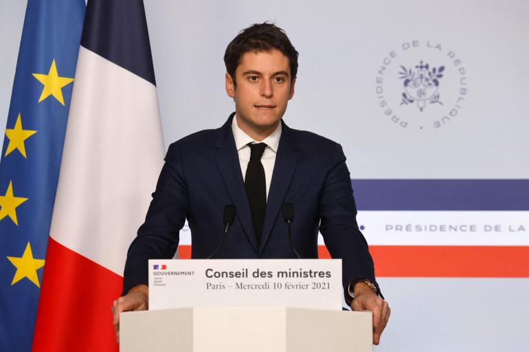 Le porte-parole du gouvernement, Gabriel Attal, le 10 février 2021