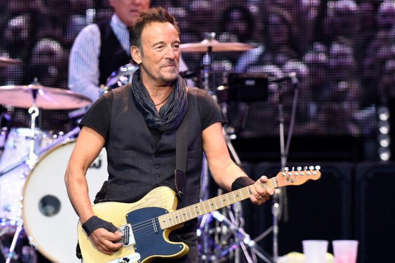Bruce Springsteen, lors d'un concert en Espagne, le 17 mai 2016