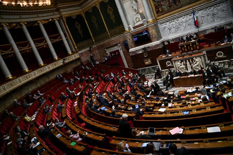 Photo prise le 6 octobre 2020 à l'Assemblée nationale, à Paris, lors d'une session de questions au gouvernement.