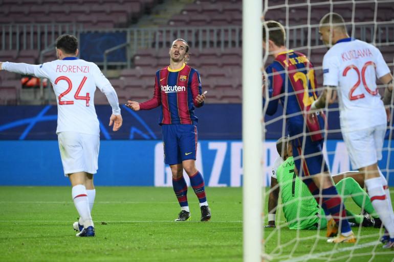Antoine Griezmann au Camp Nou le 16 février 2021