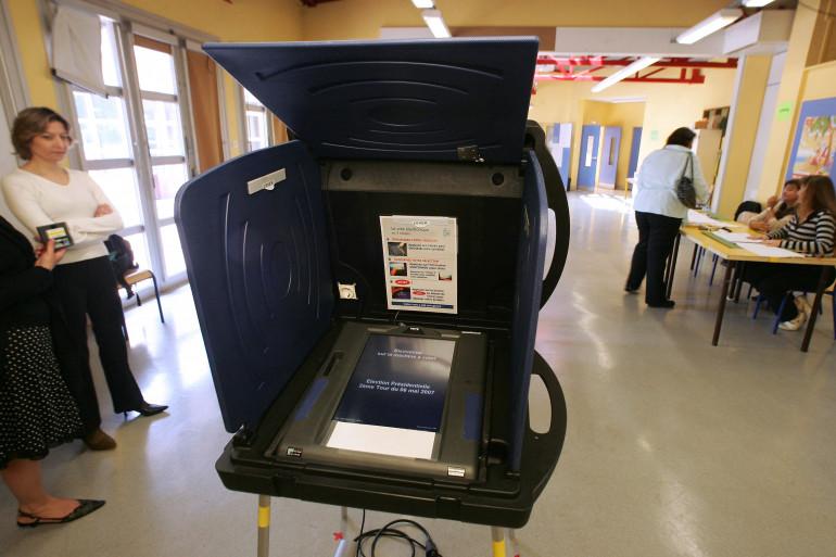 Une machine à voter à Issy-les-Moulineaux (illustration)