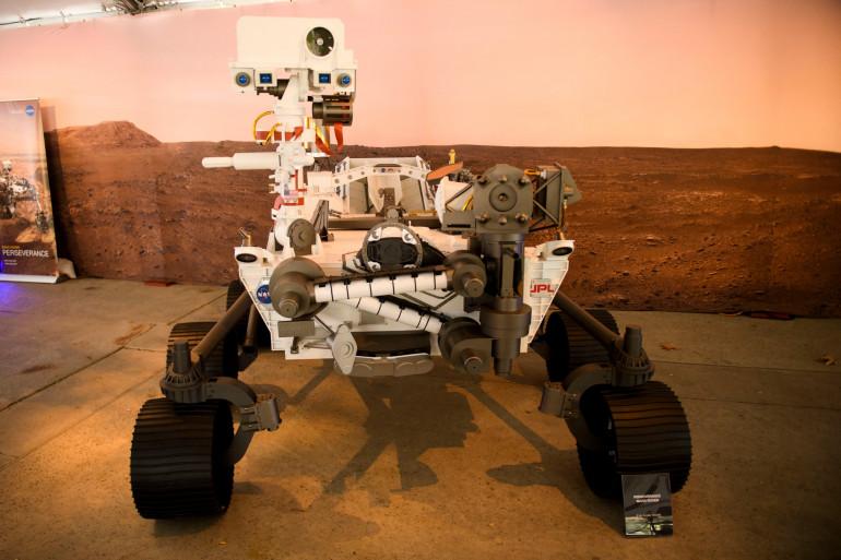 Un modèle du robot Perseverance (illustration).