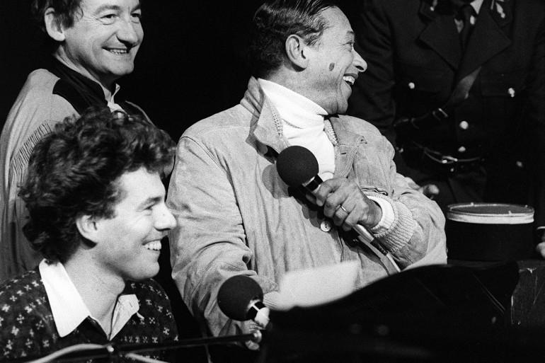 Philippe Chatel (au piano), aux côtés de Pierre Desproges et Henri Salvador