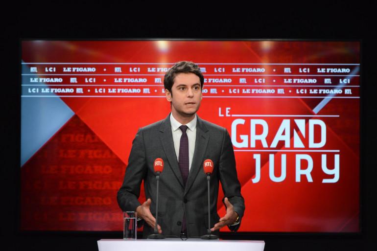 Gabriel Attal était l'invité du Grand Jury ce dimanche 21 février.