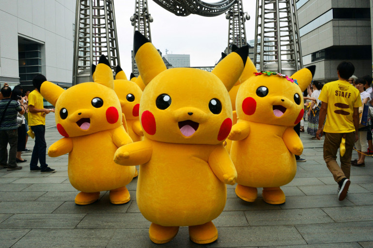 Une armée de Pikachu géants à Yokohama en 2014