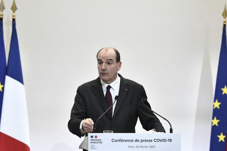Jean Castex lors d'une conférence de presse le jeudi 25 février 2021.